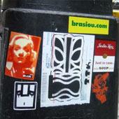 Brasiou sticker in New York City, thanks to Titiki!